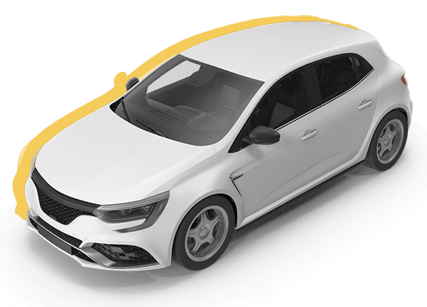 Hvid personbil